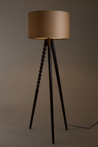 Walnut Tripod Floor Lamp - lighting