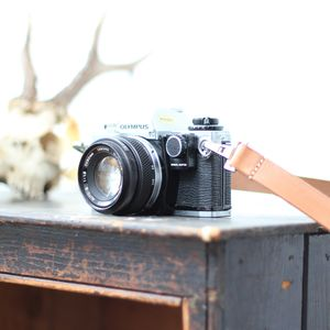Handmade Leather Camera Strap - 3rd anniversary: leather