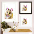 Inky Mouse Illustration Print