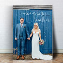 Personalised Always Better Together Valentines Canvas