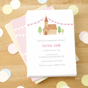 Personalised Girl's Christening Invitations - christening invitations
