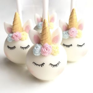 Sleeping Unicorn Cake Pops - children's parties