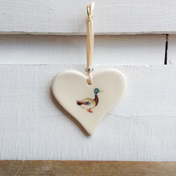 Duck Ceramic Heart