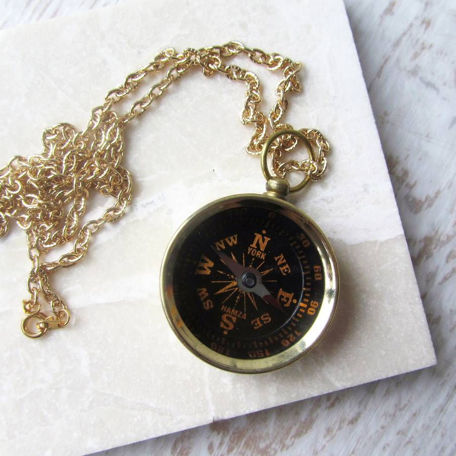 compass with vermeil customer diamond golden necklace necklaces silver favorite new