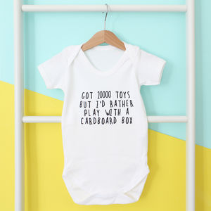 I'd Rather Play With… Personalised Babygrow