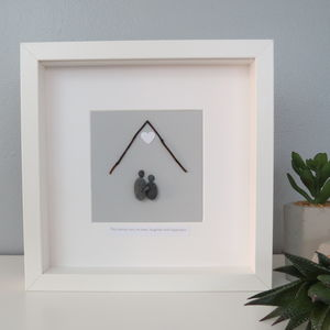 Personalised Family Home Pebble People Picture Artwork