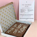 Personalised Message Letterbox Brownie Slab