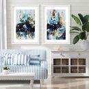 Abstract Wall Art Print Set Of Two Posters
