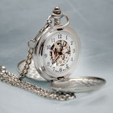 Antique Style Mechanical Personalised Pocket Watch - men's jewellery