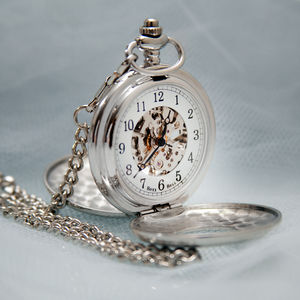 Antique Style Mechanical Personalised Pocket Watch - watches