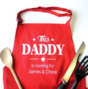 Personalised Daddy's Barbecue Apron - best gifts for fathers