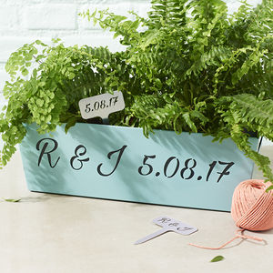 Personalised Metal Planter - personalised wedding gifts