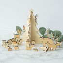 Woodland Animal Scene Advent Calendar