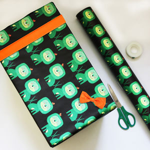 Green Lion Giftwrap