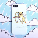 Pug Love Dog Phone Case For iPhone SE