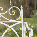Rose Hill Ornate White Folding Garden Bench