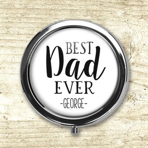 Personalised 'Best Dad Ever' Pill Box