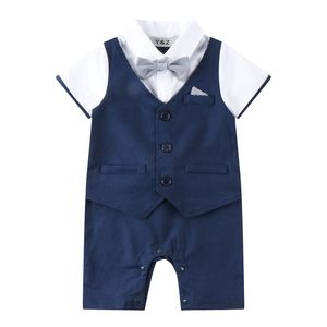 Baby Boy Wedding 1pc Linen Blend Outfit