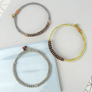Guitar String Bracelet / Wristband - men's jewellery
