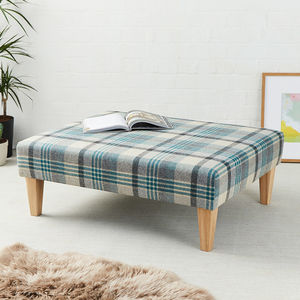 Heritage Rectangular Coffee Table Stool - living room