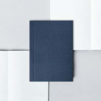 A6 Pocket Layflat Notebook – Everyday Objects In Navy