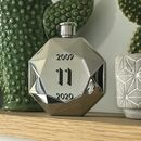 Personalised 11th Anniversary Steel Hip Flask