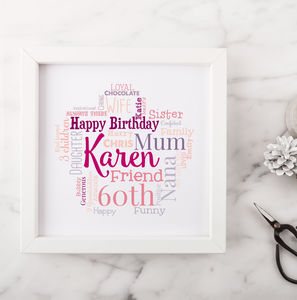 Personalised 60th Birthday Gift For Her