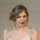 Isabella Pearl And Crystal Flower Crown Ribbon Headband