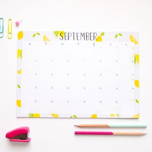 A4 Illustrated Desk Pad Calendar