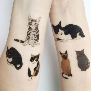 Cat Temporary Tattoos - temporary tattoos