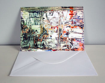Magazine Texture Greeting Card
