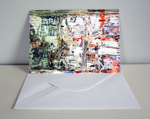 Magazine Texture Greeting Card - blank cards