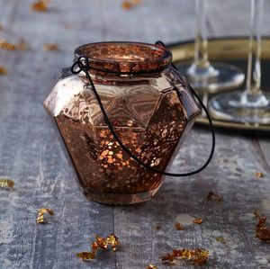 Rose Gold Geometric Tea Light Holder