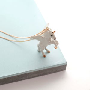 Flying Unicorn Necklace - necklaces & pendants