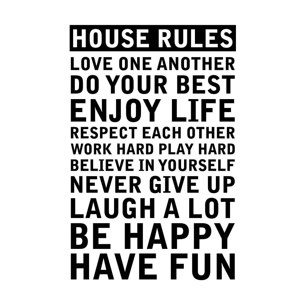 Marvelous U0027Personalisedu0027 House Rules Wall Sticker · U0027