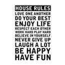 'Personalised' House Rules Wall Sticker