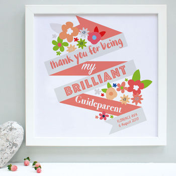 Personalised Guideparents Framed Print