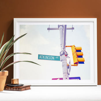 Personalised Contemporary American Street Sign Print