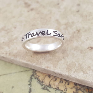 Personalised Solid Silver Engraved Ring - rings