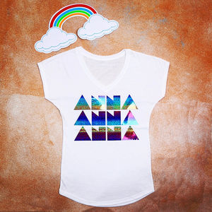 Personalised Adult Rainbow T Shirt - tops & t-shirts