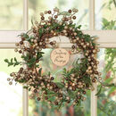 Personalised Woodland Berry Pre Lit Wreath