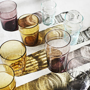 Coloured Bubbled Drinking Glasses