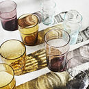 Set Of Four Coloured Bubbled Drinking Glasses