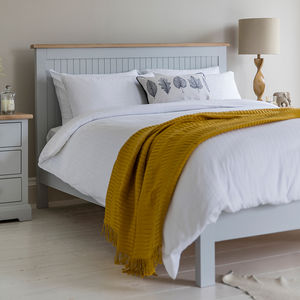Marlow Bed Frame In Grey By Frank Hudson - furniture