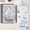 Hazy Woodland Wedding Invite Sample