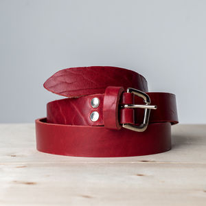 Blake Handcrafted Leather Belt - belts