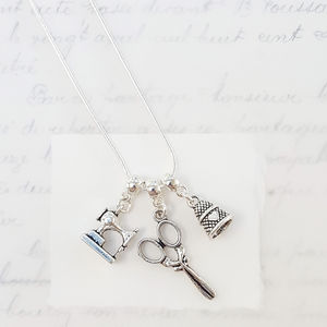 Personalised Sewing 'Bee' Necklace