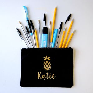 Personalised Pineapple Pencil Case