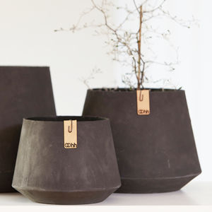 Black Danish Paper Planter