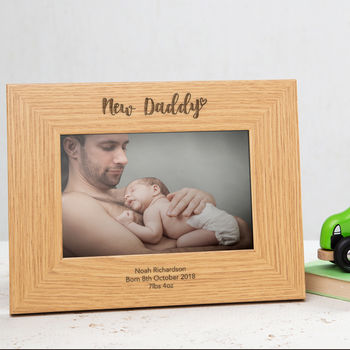 Personalised New Daddy Or Mummy Frame
